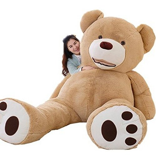 yousyuぬいぐるみ 特大 くま/テディベア 可愛い熊 動物 大きい くまぬいぐるみ/熊縫い包み/クマ抱き枕/お祝い/ふわふわぬいぐるみ (200cm)