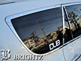 BRIGHTZ ヴァンガード ACA33W ACA38W GSA33W 超鏡面ステンレスメッキアッパーウィンドウモール リア 2PC バンガード 30 33 38 ACA33 GSA33 GSA33 10976
