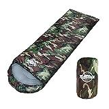 LIBERTA(リベルタ) 寝袋 シュラフ スリーピングバッグ 封筒型 コンパクト 軽量 丸洗い 最低使用温度5度 収納袋 迷彩 カモフラージュ