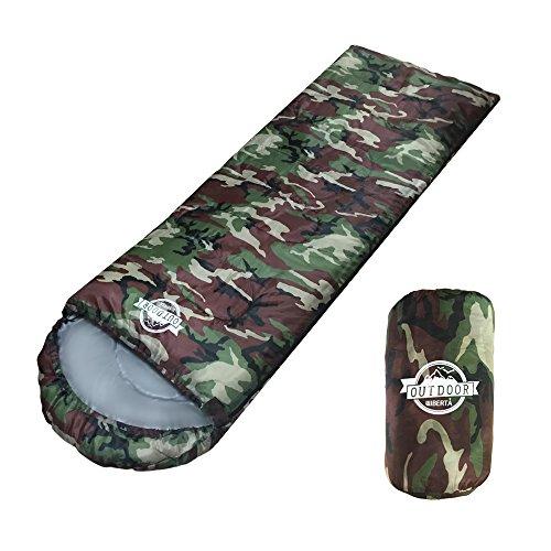 [リベルタ]LIBERTA 寝袋 シュラフ スリーピングバッグ 封筒型 コンパクト 軽量 丸洗い 最低使用温度5度 収納袋 4カラー