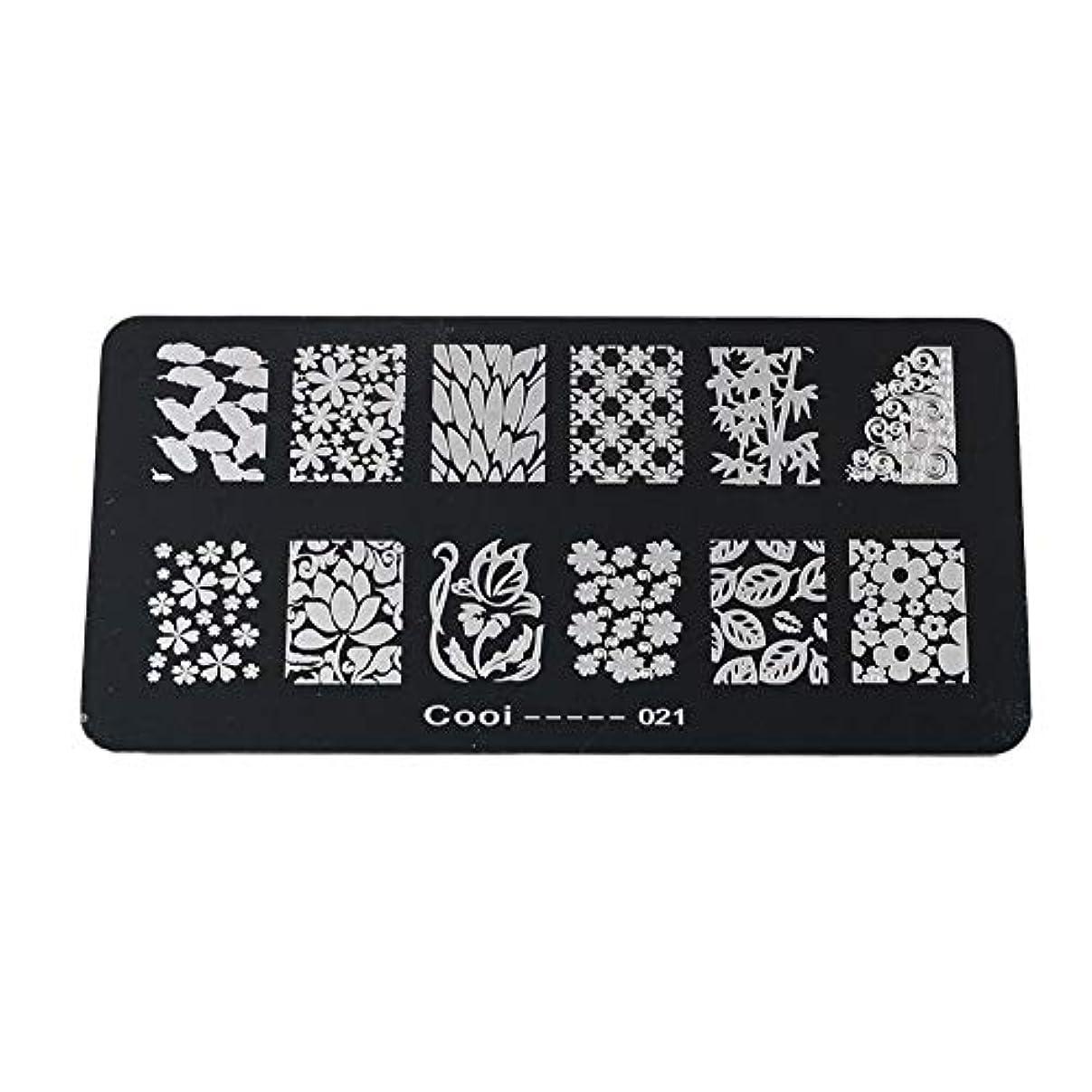 Yuyte耐久性のあるステンレス鋼の長方形のネイルアートスタンピングプレート-DIYマニキュア印刷イメージテンプレート(05)