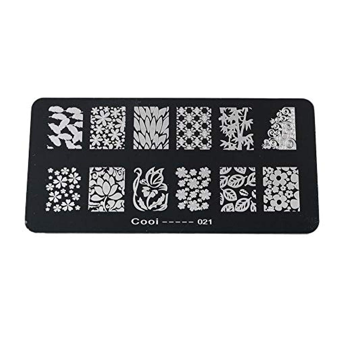セーブ上級同様に耐久性のあるステンレス鋼の長方形のネイルアートスタンピングプレート-DIYマニキュア印刷イメージテンプレート(05)