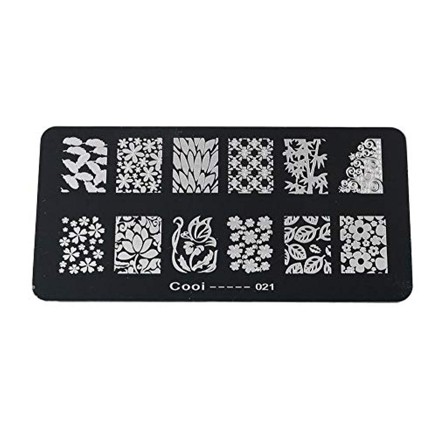 黒板降雨石炭耐久性のあるステンレス鋼の長方形のネイルアートスタンピングプレート-DIYマニキュア印刷イメージテンプレート(05)