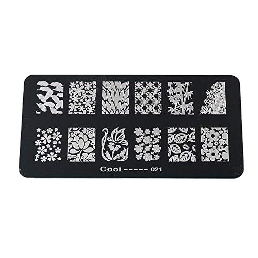 耐久性のあるステンレス鋼の長方形のネイルアートスタンピングプレート-DIYマニキュア印刷イメージテンプレート(05)