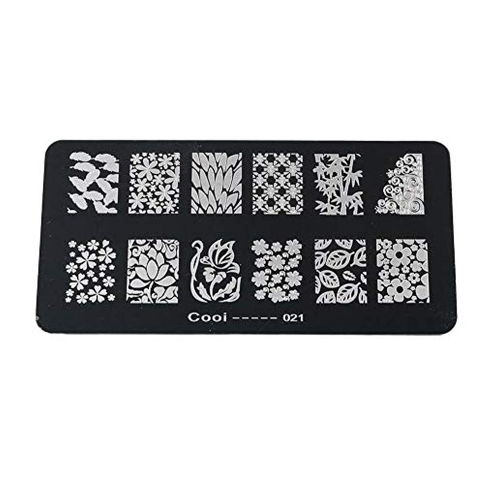 行商平和的パートナーYuyte耐久性のあるステンレス鋼の長方形のネイルアートスタンピングプレート-DIYマニキュア印刷イメージテンプレート(05)