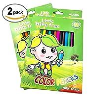Colored Pencils、36色鉛筆、2パック