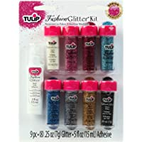 Tulip Fashion Glitter Kit .25oz 9/Pkg-Multicolor (並行輸入品)