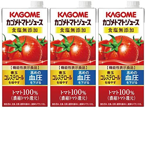 カゴメトマトジュース 食塩無添加 1L×3本