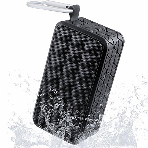 防水認証Bluetoothスピーカー/シンプル 高音質 耐衝撃 ポータブル/マイク搭載通話可能/10時間連続再生 防塵仕様ワイヤレスピーカー アウトドアKINGSTAR(キンスター) 【1年保証付】