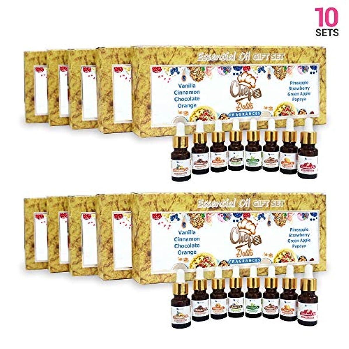 軽量チーム腹部Aromatherapy Fragrance Oils (Set of 10) - 100% Natural Therapeutic Essential Oils, 10ml each (Vanilla, Cinnamon...