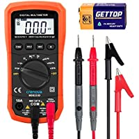 Crenova デジタルマルチメーター 電圧・電流・周波数・抵抗・導通測定テスター