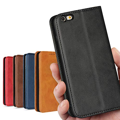 iphone6s plus 6プラス 6sプラス ケース 手帳型 iphone6 plus ケース iPhone6plus / 6s plu ケース アイフォン6 プラス アイフォン6s プラス ケース iphone6s plus case iphone6 plus 6+ 6s+ カバー_iCoverCase_ 高質合成皮革 内蔵マグネット スタンド機能 落ち着いた色 レトロ ブラック