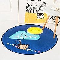 [スンル]カーペット 円形 滑り止め 洗える 防音 耐久性 チェアマット ラグマット 可愛い 子供用マット リビング/寝室/客間/ベッドルーム 180*180cm