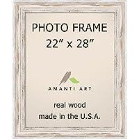 """写真フレーム、8x 10"""" AlexandriaホワイトWash木製外側サイズ: 11x 13"""" 22 x 28 DSW1385428"""