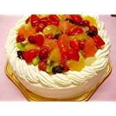 生クリームフルーツデコレーションケーキ 7号冷凍販売バースデーケーキ【バースデーケーキ 誕生日ケーキ デコ】::146