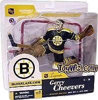 "McFarlane NHL Legends Series 1 Gerry Cheevers 6"" Figure in Boston Black Jersey"