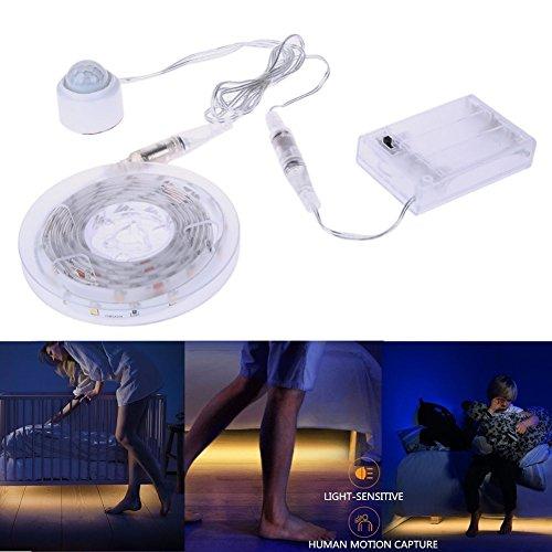 Fuleadture  LEDテープライト 人感センサー ベッドライト IP65 防水 USB接続 LEDテープ 間接照明 ( 1.5M*2 )