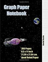 Graph Paper Notebook 5: Quad Ruled, Grid Paper, 100 Sheets (Large, 8.5 x 11)