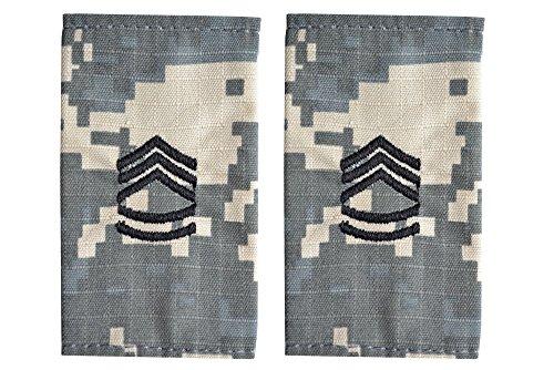 5 米陸軍 肩章 エポーレット 2枚入 階級章 1等軍曹 ワッペン レプリカ ACU迷彩