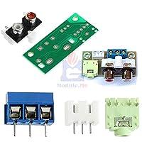 DIY キットオーディオスイッチパワーアンプの Rca 3.5 ミリメートルオーディオ入力ブロックアンプモジュール電子キット