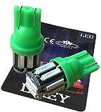 (ライミー)LIMEY 最新! 5W級 爆光 T10 LED バルブ グリーン 緑 ポジション メーター ウエッジ SMD7020 10連×2SMD 20チップ搭載 ナンバー ルームランプ 取説&保証書付 2個入 【ベース:緑】 L-T10G7020C2