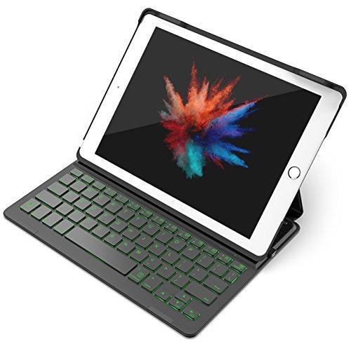 Inateck バックライト付きiPadキーボードカバー,iP...