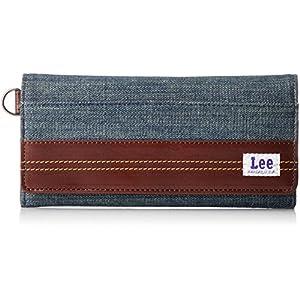 [リー] 長財布 デニム×高級イタリアンレザー 320-1933 03 ネイビー