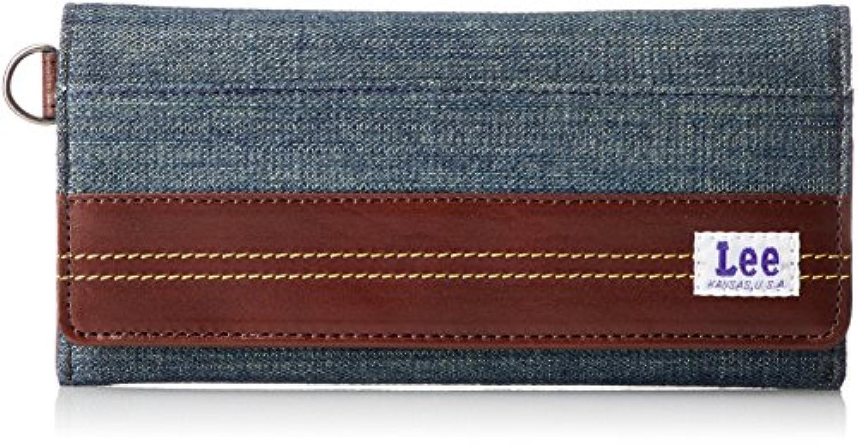 [リー] 長財布 デニム×高級イタリアンレザー 320-1933