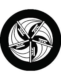家紋シール 五つ帆の丸紋 布タイプ 直径40mm 6枚セット NS4-1134