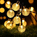 ProGreen イルミネーションライト LED40球 全長7.5m ソーラー充電  LEDクリスマス装飾 気泡 (電球色)