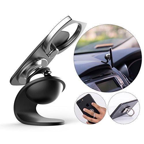 多機能 車載ホルダー マグネット式 360度回転 片手で操作する 粘着式 車載スマホホルダー スマートフォン用ホールドリング コンボ
