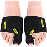 Bunion Correctors, 1 Pair Adjustable Soft Bunion Splints Brace Big Toe Straighteners Separators Nighttime Support Relief for Hallux Valgus, Overlapping Toe, Turf Toe, Bunion Pain Aid Surgery