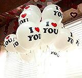 パーティーバルーン I LOVE YOU 20個入り ゴム風船 イベント 結婚式 メッセージ