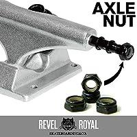 レベルロイヤル(Revel Royal) スケートボード(スケボー) トラック用 アクスルナット ブラック 4個入り