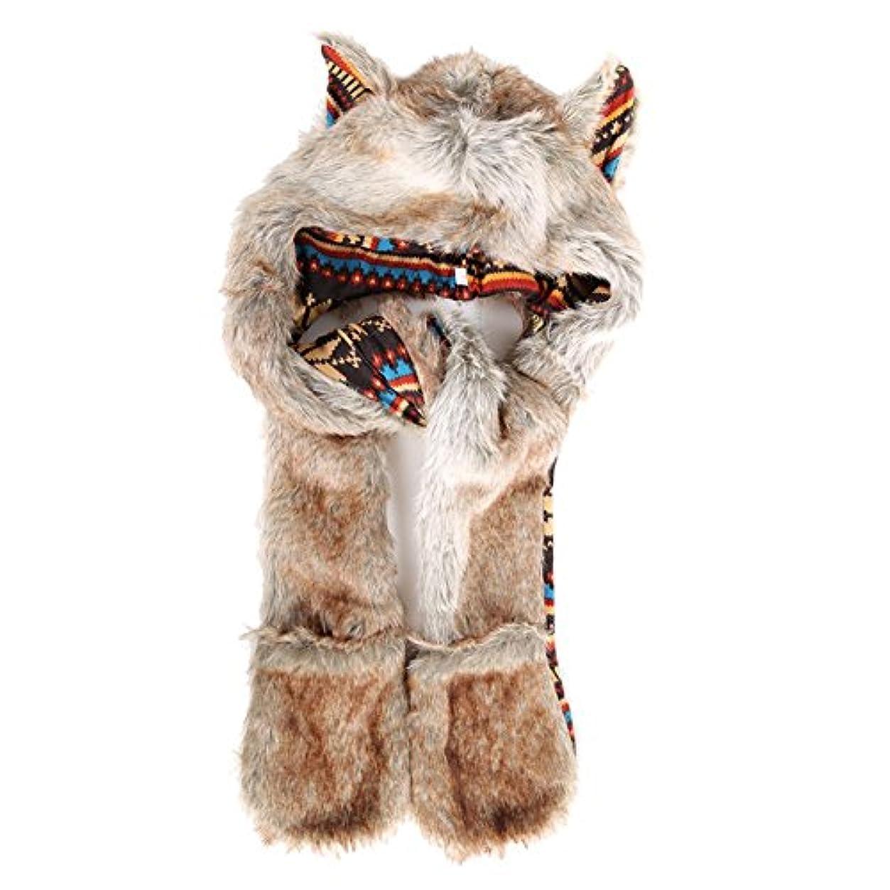 わずらわしい処分したそしてbestjpフェイクファー レッド 毛皮 帽子 スカーフ 手袋 セット