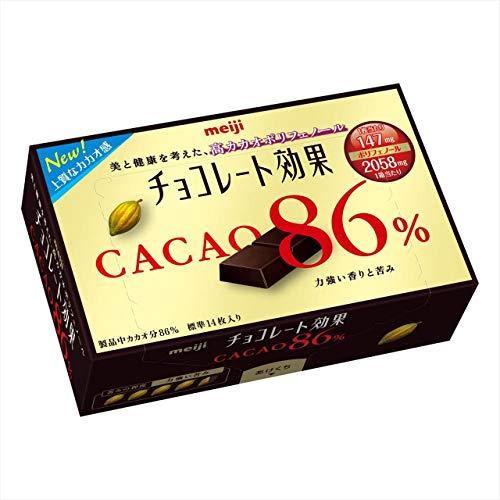 高カカオチョコレートのチョコレート効果86%