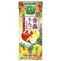 カゴメ 野菜生活100 青森りんごミックス 195ml紙パック×24本入