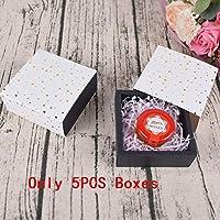 HENGTONGWANDA 5PCフラワー手作りソープボックス・パーティープレゼントギフトキャンディケーキ用のボックス甘い誕生日ボワット糖衣錠結婚式の好意ボックス包装 (色 : 5pc Hot stars)
