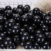momowu 2.75インチ フタル酸フリー 楽しい 耐クラッシュボール ソフトPEエア充填 オーシャンボール プレイボール ピットボール ベビー キッズ トンネル/テント/プール/スイムジャンプハウス ブラック 100個