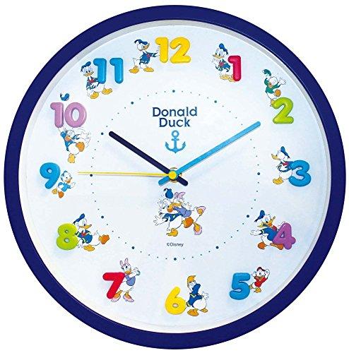 Disney 壁掛け時計 アイコンウォールクロック アナログ表示 連続秒針 ドナルドダック 734481
