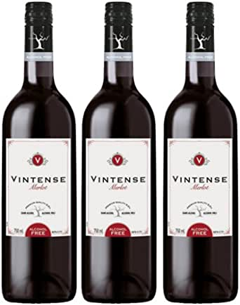 【ノンアルコール ワイン】ヴィンテンス(Vintense)メルロー(赤)750ml【3本】