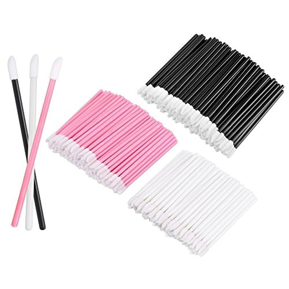 に話す架空のKEDSUM リップブラシ 使い捨て 300本入り メイクブラシ 化粧用品 化粧筆 化粧ブラシ 携帯用 便利 (3色)