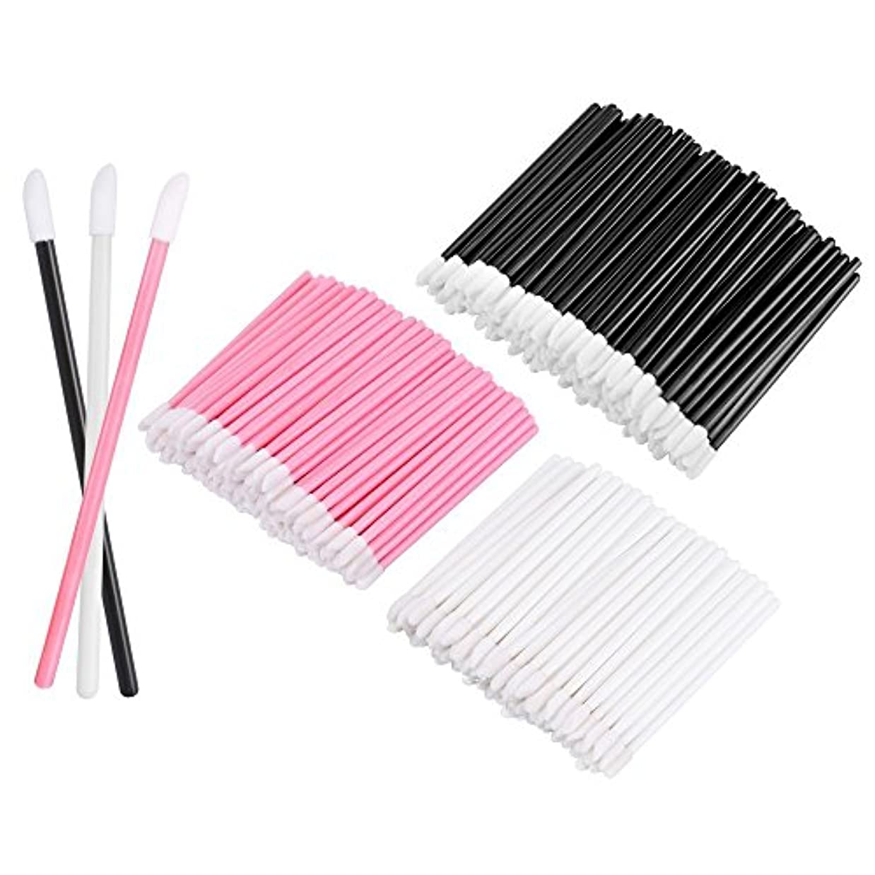 ながら死んでいる無数のKEDSUM リップブラシ 使い捨て 300本入り メイクブラシ 化粧用品 化粧筆 化粧ブラシ 携帯用 便利 (3色)