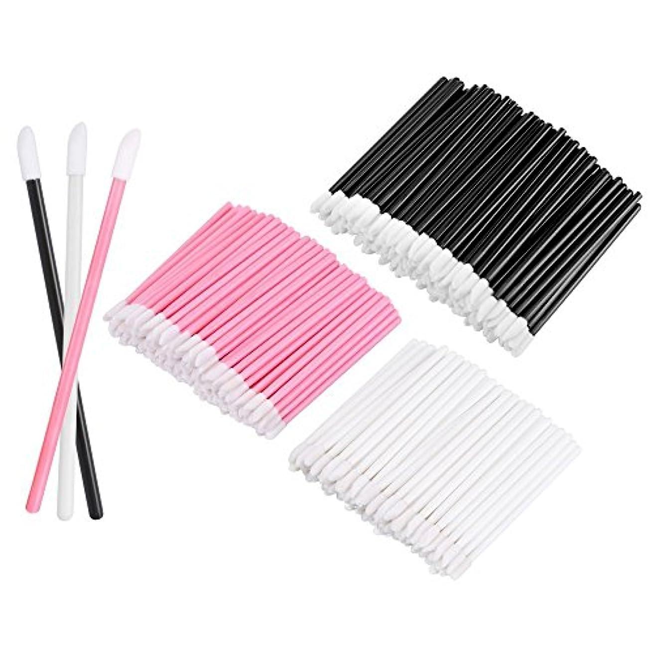 ぬれた代わりに病院KEDSUM リップブラシ 使い捨て 300本入り メイクブラシ 化粧用品 化粧筆 化粧ブラシ 携帯用 便利 (3色)