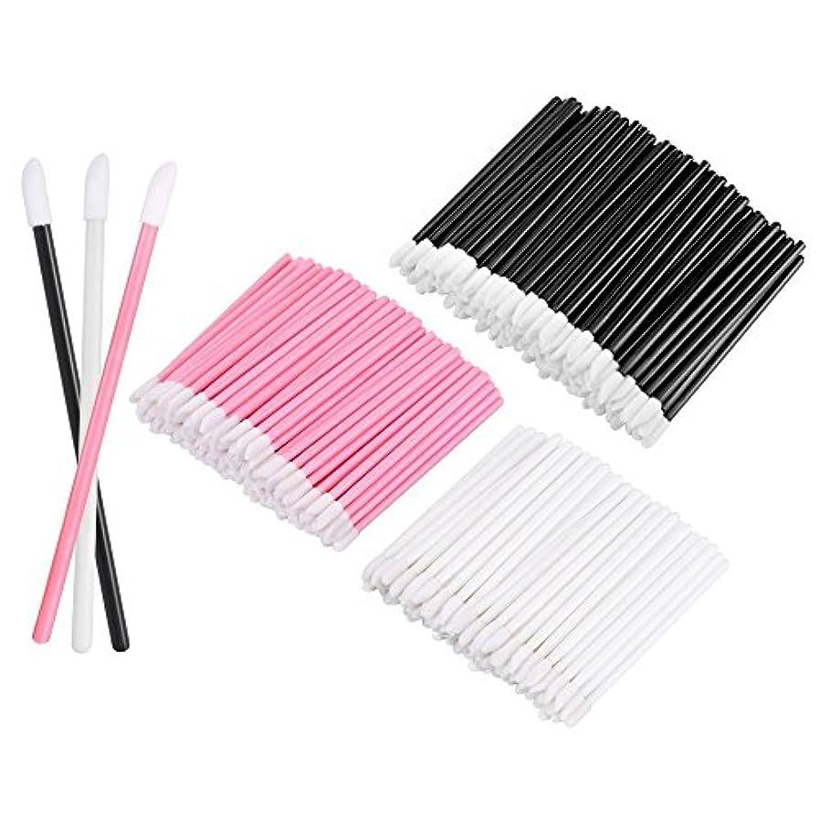 KEDSUM リップブラシ 使い捨て 300本入り メイクブラシ 化粧用品 化粧筆 化粧ブラシ 携帯用 便利 (3色)