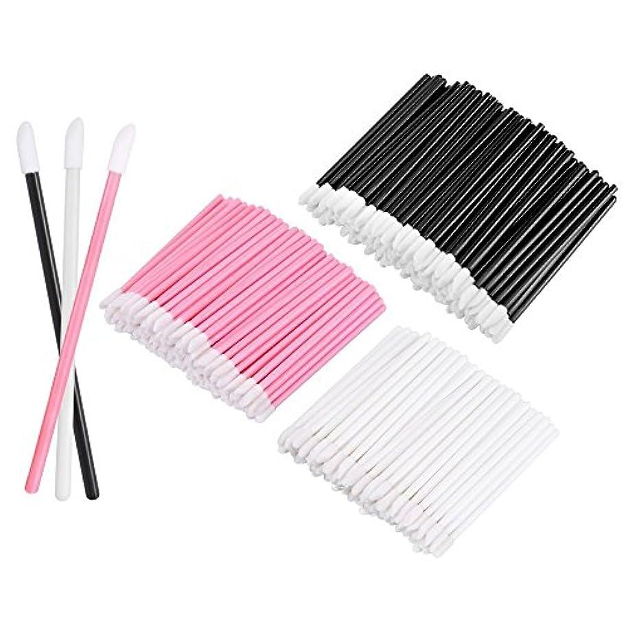 ポイント巨大ビームKEDSUM リップブラシ 使い捨て 300本入り メイクブラシ 化粧用品 化粧筆 化粧ブラシ 携帯用 便利 (3色)
