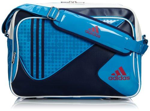 [アディダス] adidas FB タフショルダーバッグ L DDV85 F92919 (ソーラーブルー S14/ビビッドベリー S14)