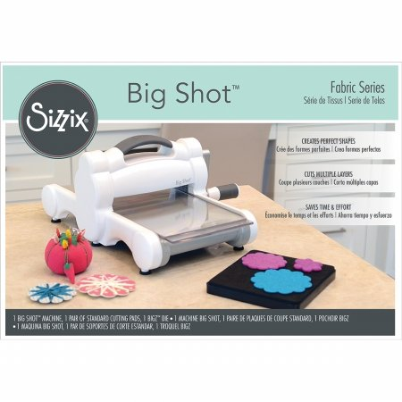 Sizzix 661580 Big Shot Fabric Series Starter Kit, White & Gray