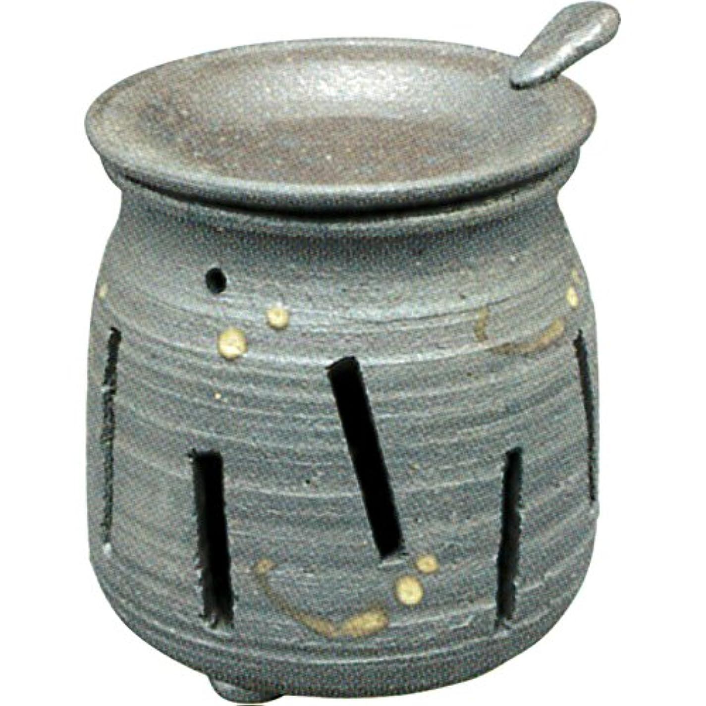 広範囲に乱雑なシルク常滑焼 : 焜清 茶香炉 ル36-05