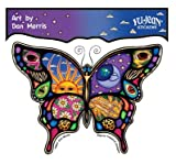 """Dan Morris - Night And Day Stunning Celestial Butterfly ステッカー Sticker Decal - 5"""" x 4"""" - Weather Resistant, Long Lasting for Any Surface"""